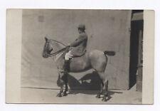 PHOTO ANCIENNE Animal Cheval Cavalier Portrait Profil Selle Vers 1930 Harnais