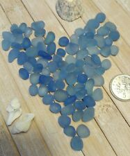 20 small pieces perfect Blue sea beach glass jewellery crafts (6-10 mm)