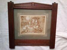 großer massiver beschnitzter Jugendstil  Bilderrahmen ~ 1900 Glas Foto Passepart
