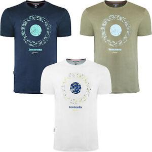 Lambretta Mens Paisley Target Cotton Short Sleeve Crew Neck T-Shirt Top Tee