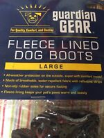 Fleece Lined Large Dog Boots By Guardian Gear Red All Weather NonSlip Shoes NEW