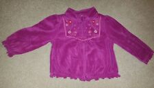 Gymboree Peruvian Doll velour zip jacket shirt size 18-24 months