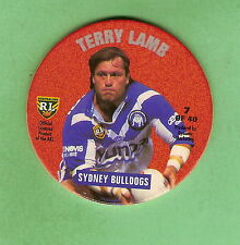 1995 NSW RUGBY LEAGUE TAZO #7 TERRY LAMB, CANTERBURY BULLDOGS