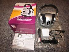 RADIO SHACK MODEL 33-1197 RECHARGEABLE WIRELESS HEADPHONES w/BOX *USED ONCE*
