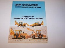 1977 MASSEY FERGUSON MF 20C 30B 40B 50C BACKHOE LOADER TRACTOR SALES BROCHURE