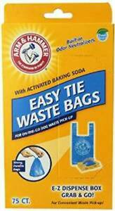 Arm & Hammer Easy-Tie Waste Bags Blue 75ct    Free Shipping