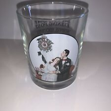 New ListingVintage Saturday Evening Post Glass Norman Rockwell Courting At Midnight