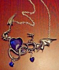 Punk Necklace Women Jewelry Antique Silver Ancient Dragon Pendants & Necklaces