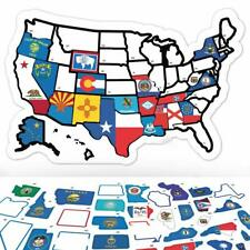 RV State Sticker Travel Map - 11