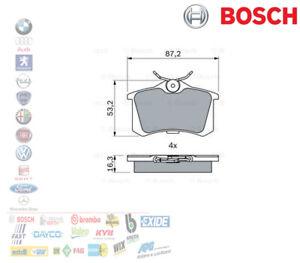 PASTIGLIE FRENO POSTERIORI AUDI A1 A3 A4 A8 VW GOLF VI 1.6 1.9 BOSCH 0986461769