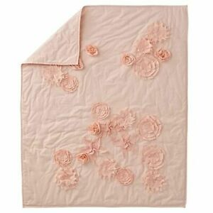 Crate and Barrel Kids Floral Rush Baby Quilt Blanket Girls Flowers Pink Fresh