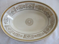 """Johnson Brothers JB13 Victorian Gold Urns,Flowers,Scroll-10"""" Oval Serving Bowl"""