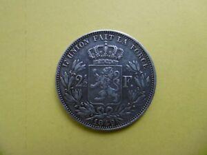 Belgium silver coin 2 1/2 Francs 1849