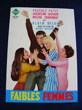 1959 FAIBLES FEMMES Press Alain Delon Pascale Petit Mylene Demongeot J Sassard