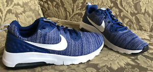 Nike Air Max MOTION LW Gym Blue, Wolf Gray, White, Youth Boys Sz 6.5 M. 24.5 cms