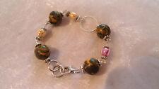 Bracelet perles en Fimo et céramique CREATION UNIQUE