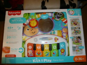 Fisher-Price FGG45 Deluxe Kick 'n Play Baby Piano Gym Kids Baby Toy