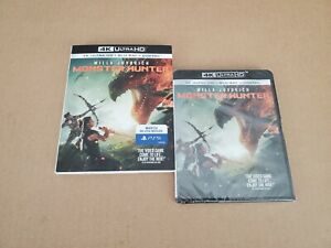 Monster Hunter: w/Slipcover (4K Ultra HD & Blu-ray) No Code, FIRST CLASS MAIL !