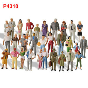 30pcs O Gauge People 1:43 Scale Painted Standing Figure Different Poses P4310