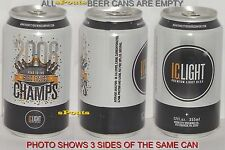 2008 NFL SUPER BOWL CHAMPS PITTSBURGH STEELERS MAN CAVE SPORT IRON CITY BEER CAN