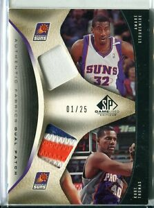 2006-07 SP Game Used Amare Stoudemire Kurt Thomas DUAL GU PATCH RELIC 1/25 SUNS