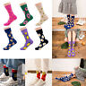 Women Socks Funny Cute Cartoon Fruits Cookie Donuts Food  Skateboard Socks Gift