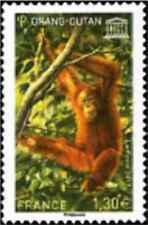 Timbre Animaux Primates Singes France service 170 ** année 2017 lot 26739