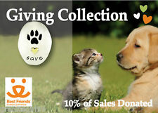 Save Animals Paw Print Tie Tack I Love Pets Lapel Pin Mima Oly 10% Donated