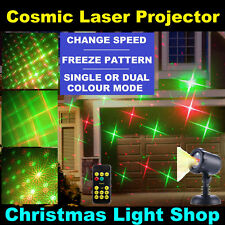 PREMIUM Outdoor Laser Light Projector Moving Red Green Cosmic Patterns Christmas