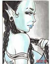 Fantasy Art Sketch Card by Elfie Lebouleux /2 - Unstoppable Loaded Pack Release