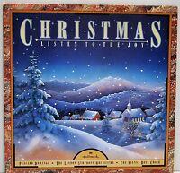 CHRISTMAS, LISTEN TO THE JOY   Placido Domingo / London Symphony   1986 Vinyl LP