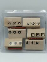 Vintage stampin up rubber stamps 2006 set of 6 Take Three Used