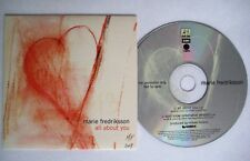 MARIE FREDERIKSSON All about you 2-track PR0M0 CDS Card sleeve * CDPRO 4362