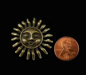 New! Vintage Art Deco Style Decor Sun Face Dollhouse Miniature Wall Plaque --