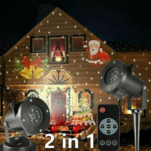 Outdoor LED Moving Snowflake Laser Light Halloween Projector Christmas Party UK