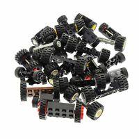 30 Lego System Achsen 60 Rädern Rad Räder Form und Farbe zufällig gemischt