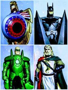 DC Alex Ross lot 3 (Batman, Aquaman, Green Lantern, Wonder Woman) Kingdom Come