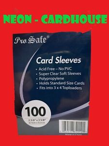 100(1 Pack) Pro-Safe Soft Penny Standard Size Baseball Basketball Card Sleeves