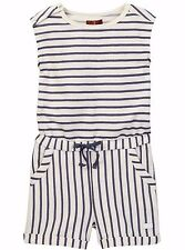 NWT 7 FOR ALL MANKIND SzS(7/8) GIRL'S SLEEVELESS STRIPED ROMPER NIGHT STRIPE $55