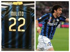 Inter Maglia Casa 2010 2011 TRIPLETTE Jersey Home MILITO 22 TAGLIA M SIZE M