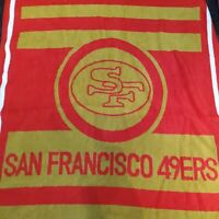 "Vintage San Marcos San Francisco 49ers 54""x79"" Blanket NFL Football Rare EUC"
