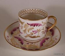 Antique Copelands Grosvenor Demitasse After Dinner Cup & Saucer Purple & Gold