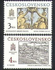 Czechoslovakia 1987 Art/Engraving/Statues/Carving/Palace 2v set (n38368)