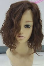 New Style Fashion 100% Real Human Hair Full Wig Short Women Wavy Brown Mix