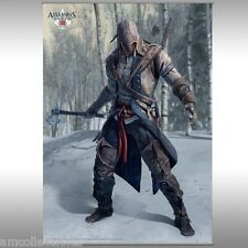 ASSASSINS CREED III  - WALL HANGING -WALL SCROLL - CONNOR KENWAY - NEU