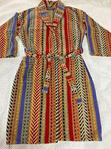 Amalia Carrara Made in Italy XL Robe  Shawl Collar Terry Bath Robe - Striped