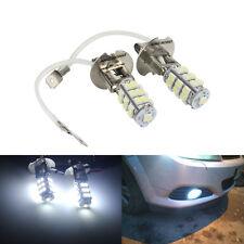 2 Blanc H3 SMD 25 LED Feu Antibrouillard Ampoule Feux De Jour Diurne Lumière 12V