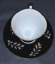 VINTAGE TEA CUP AND SAUCER SET- SHAFFORD HAND DECORATED IN JAPAN- MID CENTURY
