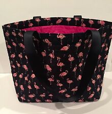 Quilted Vera Bradley Large Family Tote Bag Flamingo 3 in 1 Crossbody Lanyard