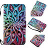 Bling Glitter Diamond Flip PU Leather Wallet Card Pockets Case Cover For Phones